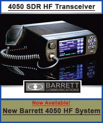 Barrett 4050 SDR HF Radio button